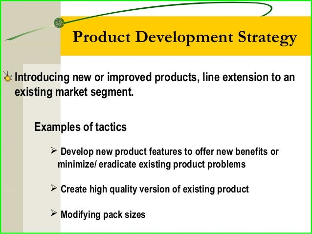new product development strategy tactics and These activities come under the research and development new product development and issues such as mass production and sales tactics may begin to.