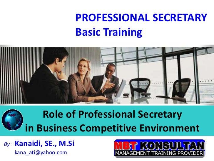 Professional Secretary Training