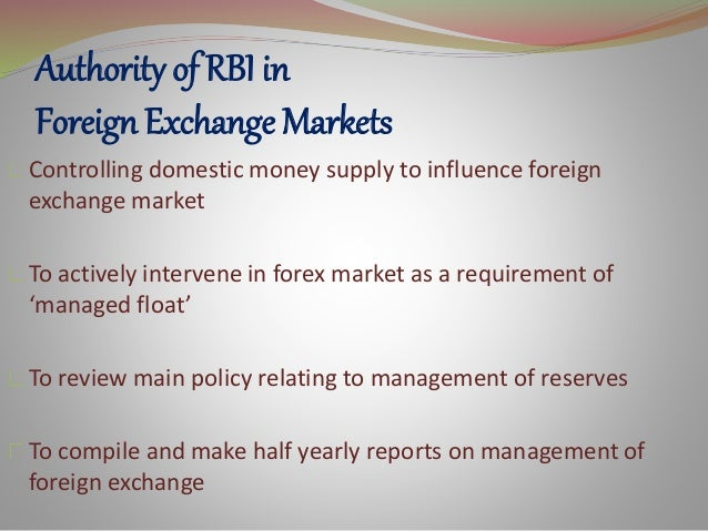 What is forex reserve management