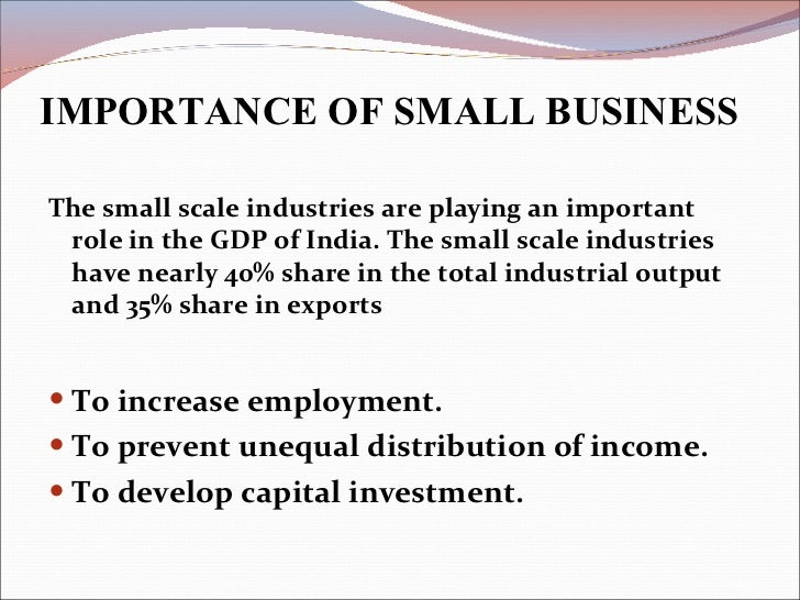 role of small scale industries in economic development