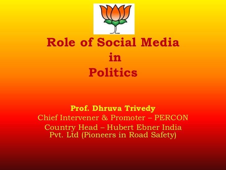 Role of social media in politics
