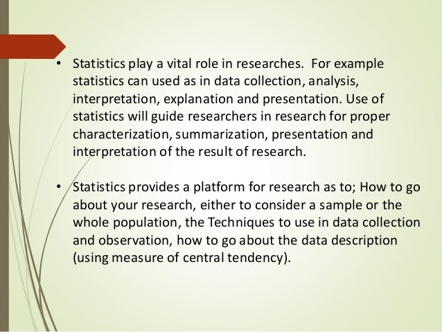 research and statistics essay