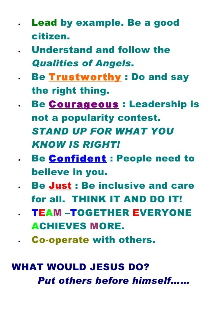 essay on team leader qualities