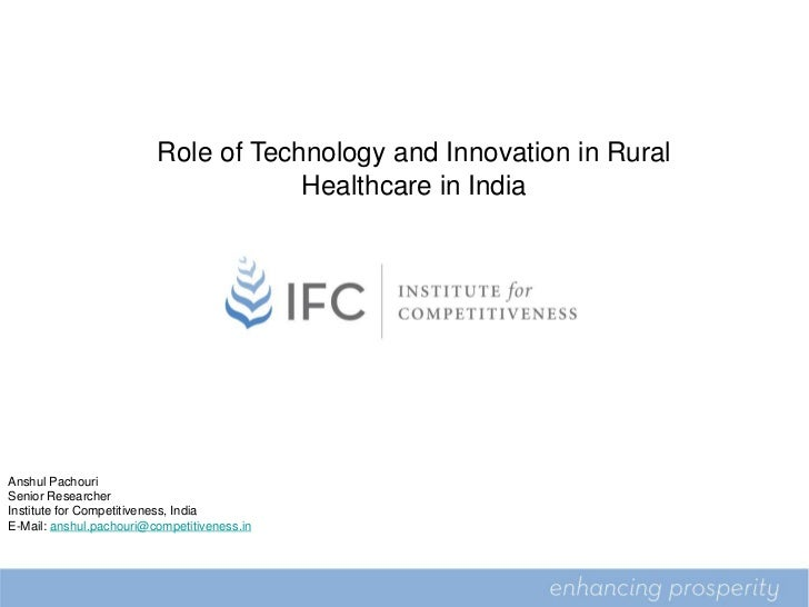 Role of Technology and Innovation in Rural                                     Healthcare in India                        ...