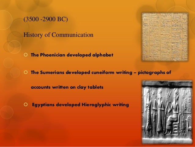account of the history of communications The history of mass communications research media essay the history of mass communications research failing to take into account the.