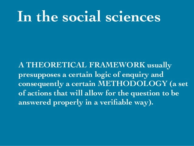 What is theoritical method?