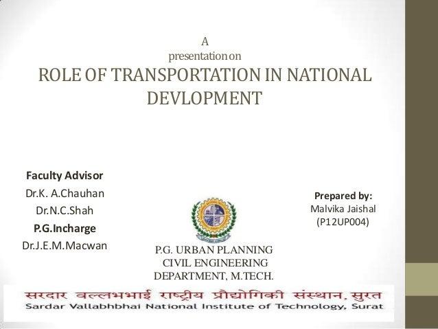Role of transportation in Development