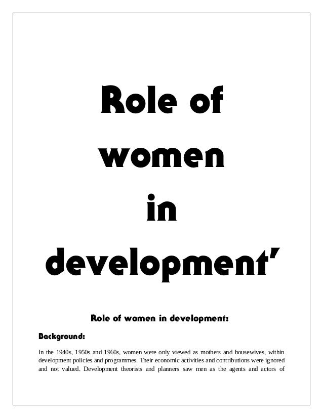 essay on role of women in society Gender roles research paper starter there still are expected norms of behavior for women and men in society gender vs sex quiz, and essay.