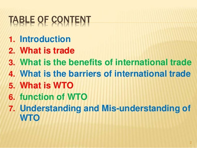 the role of wto in trade and development World trade organization (wto) has a crucial role to play in the international  trade, global economics, political and legal issues arising in the.