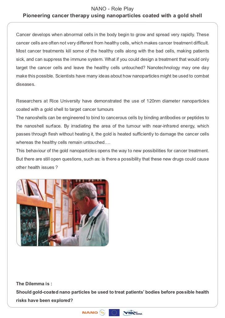 Role play - Cancer treatment - Nanotechnology