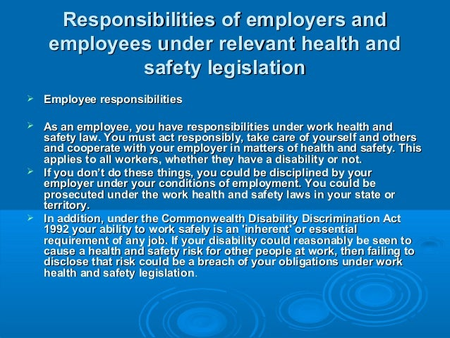 describe how health and safety legislation Code of practice nail services the scientists at the health and safety laboratory service appendix 1 health and safety legislation.
