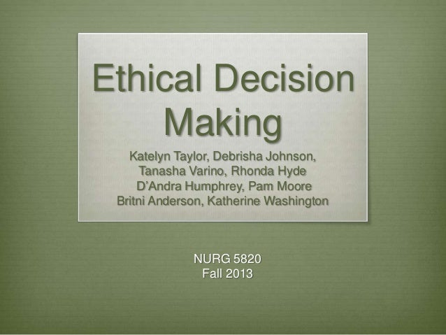 Role presentation ethical decision making-final