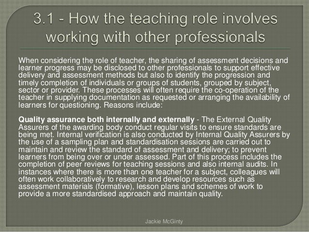 explain the boundaries between the teaching role essay