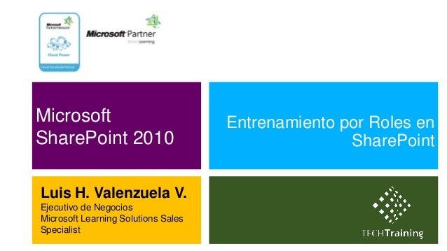 Microsoft                            Entrenamiento por Roles enSharePoint 2010                                     SharePo...