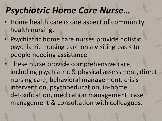 mental health home care