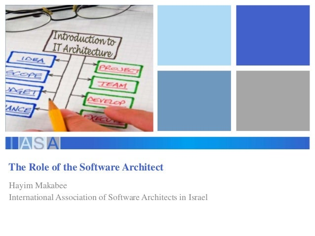 The Role of the Software Architect Hayim Makabee International Association of Software Architects in Israel