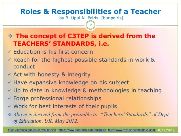 a teachers role and responsibilities essay