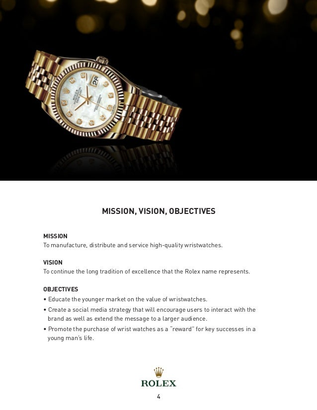 rolex strategic plan Strategic planning crafting your brand personality rolex is a brand that scores high on competence design a brand strategy plan a marketing campaign.