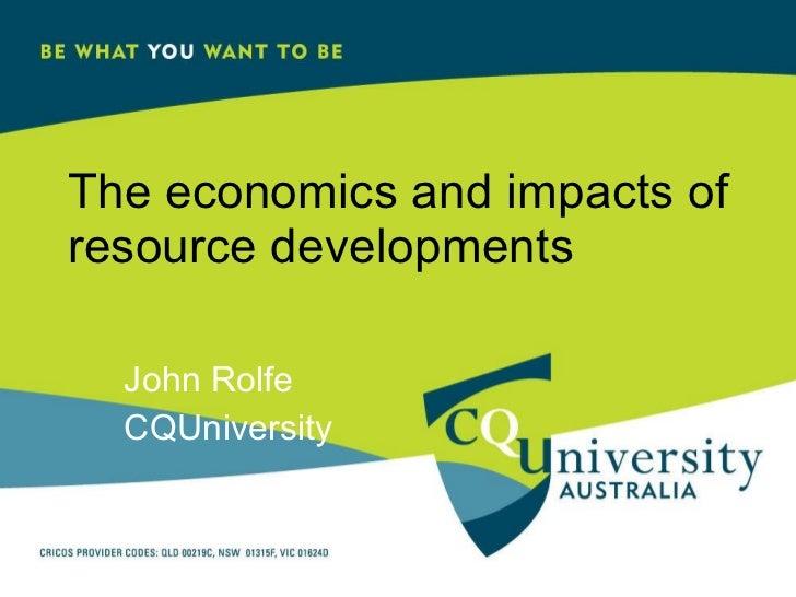 John Rolfe-Eidos Sustainable Development in Resource Intensive Regions