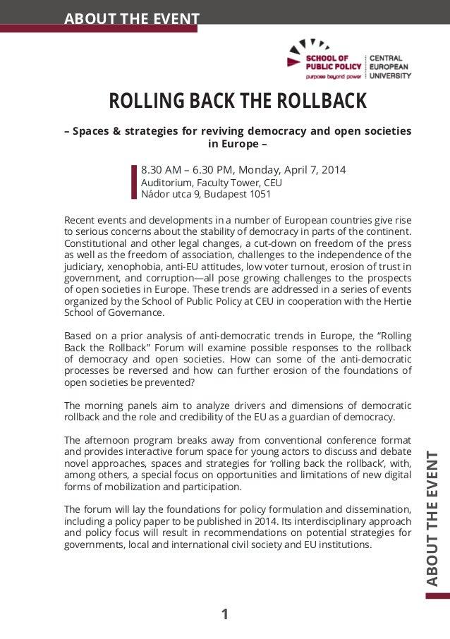 Rolling Back The Rollback program