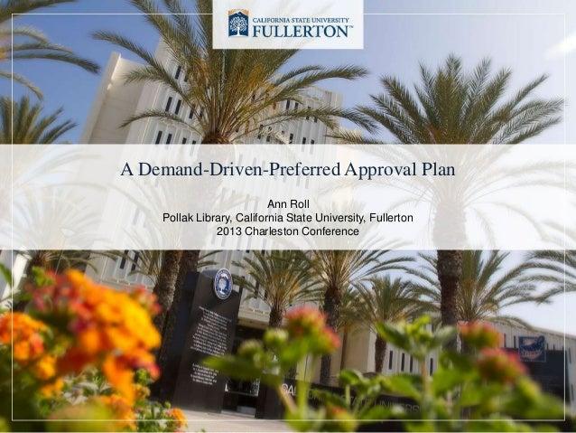 A Demand-Driven-Preferred Approval Plan