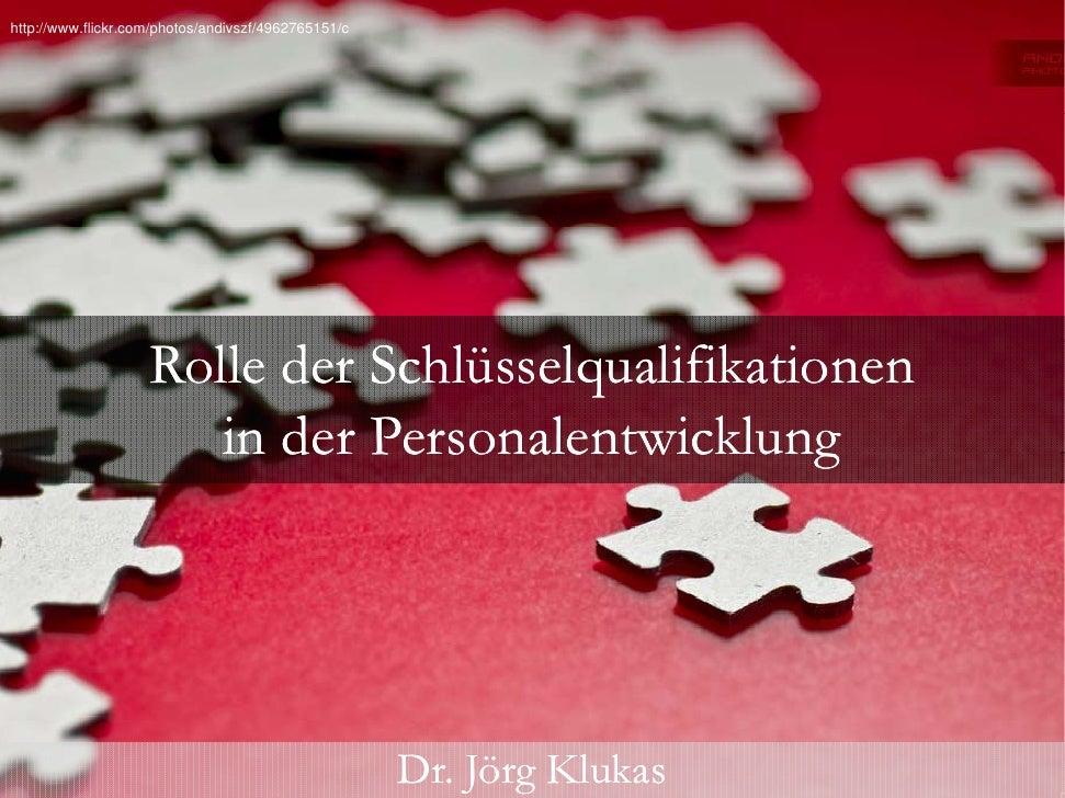 Rolle der schlüsselqualifikationen in der personalentwicklung