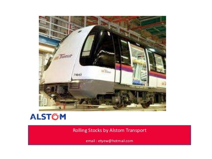 Rolling stock by Alstom Transport