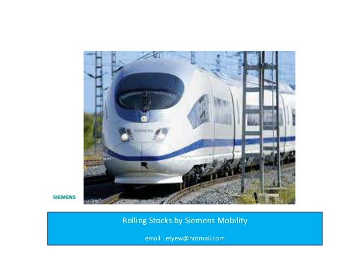 Rolling stock by Siemens Mobility