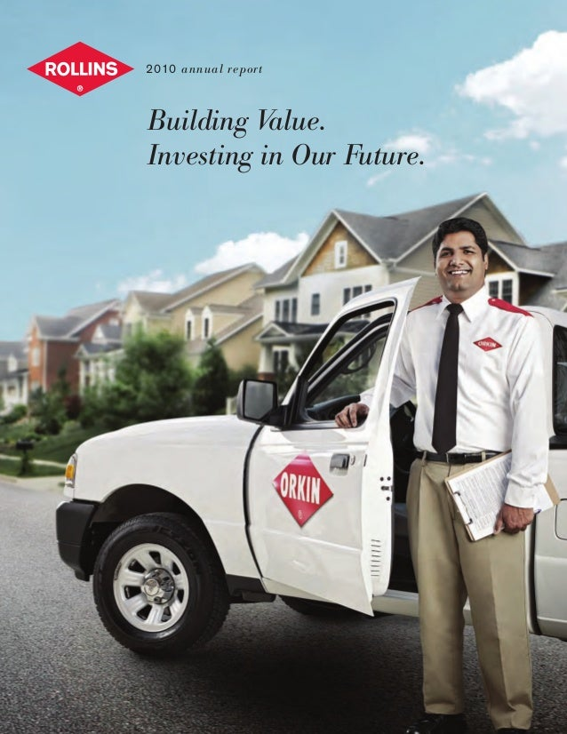 Building Value. Investing in Our Future. 2010 annual report www.orkin.com www.orkincanada.com www.westernpest.com www.pest...