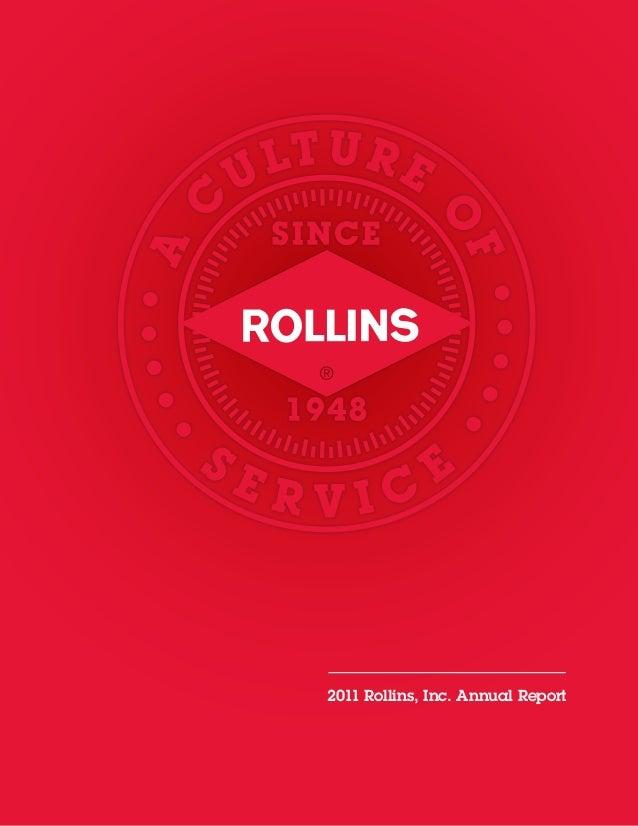 2011 Rollins, Inc. Annual Report