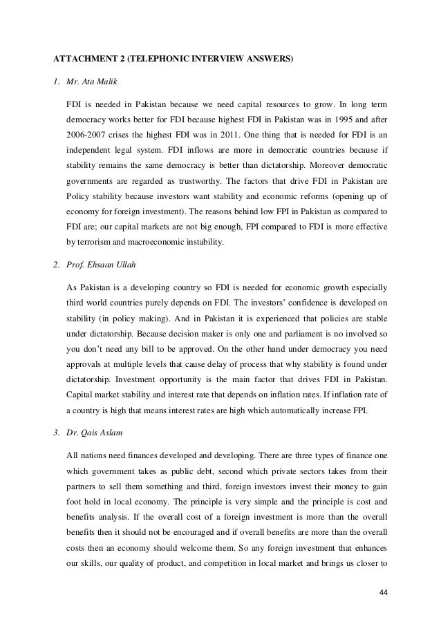thesis on fdi in pakistan Impact of fdi on the economic growth rate in pakistan - uk essays what makes uk essays to study the changes during 1990s and their impact on economic growth, fdi andimpact of fdi on the economic growth rate in pakistan.