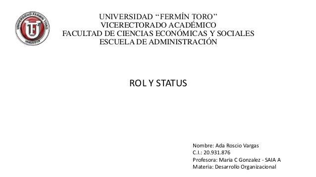 UNIVERSIDAD ''FERMÍN TORO'' VICERECTORADO ACADÉMICO FACULTAD DE CIENCIAS ECONÓMICAS Y SOCIALES ESCUELA DE ADMINISTRACIÓN  ...