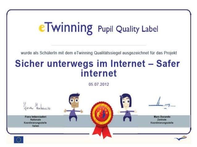 Sicher unterwegs im Internet- Safer online