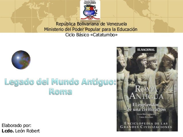 República Bolivariana de Venezuela Ministerio del Poder Popular para la Educación Ciclo Básico «Catatumbo»  Elaborado por:...
