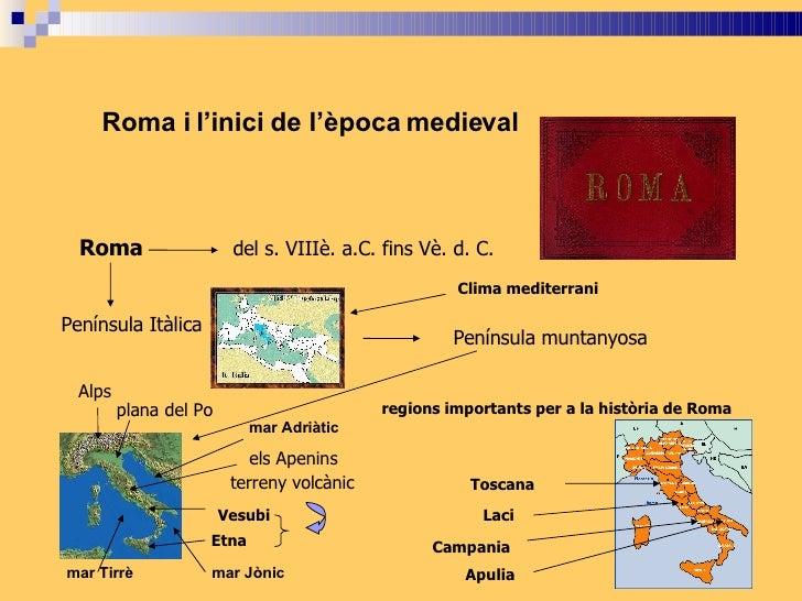 Roma i l'inici de l'època medieval      Roma                   del s. VIIIè. a.C. fins Vè. d. C.                          ...