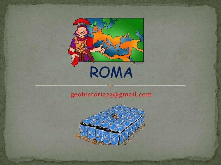 geohistoria23@gmail.com<br />ROMA<br />
