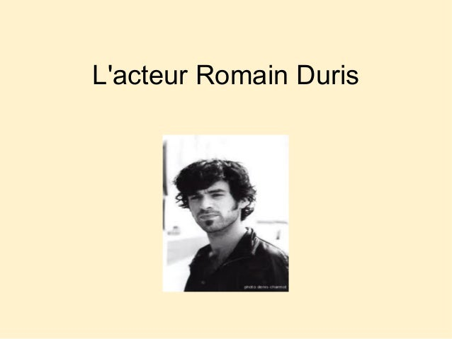 L'acteur Romain Duris