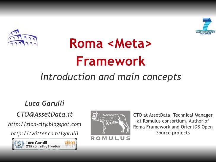 JL-1                             Roma <Meta>                          Framework             Introduction and main concepts...