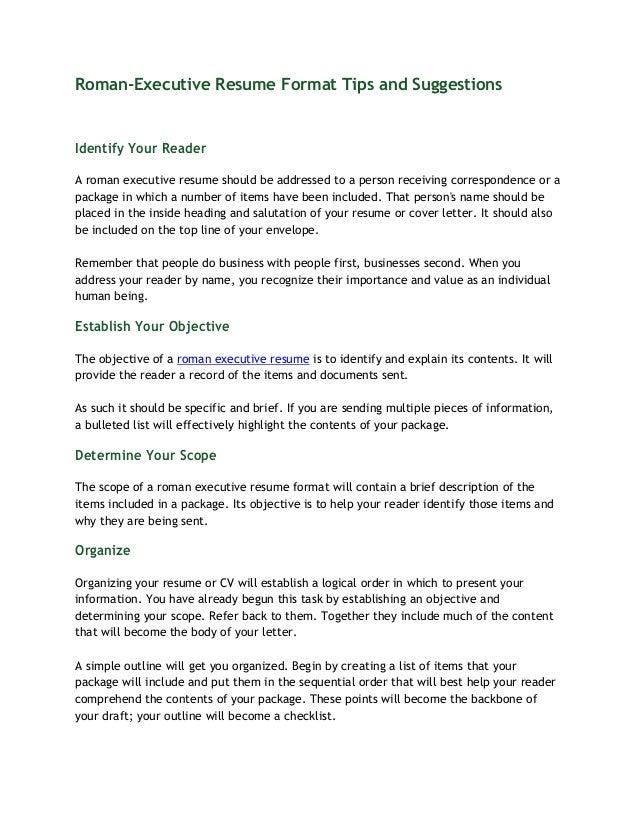 Resume reader tips