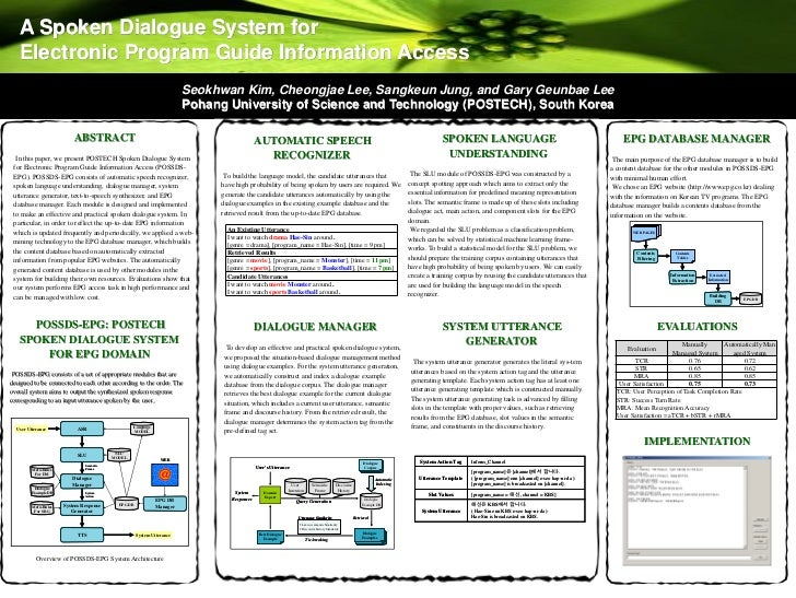 A Spoken Dialogue System for   Electronic Program Guide Information Access                                                ...