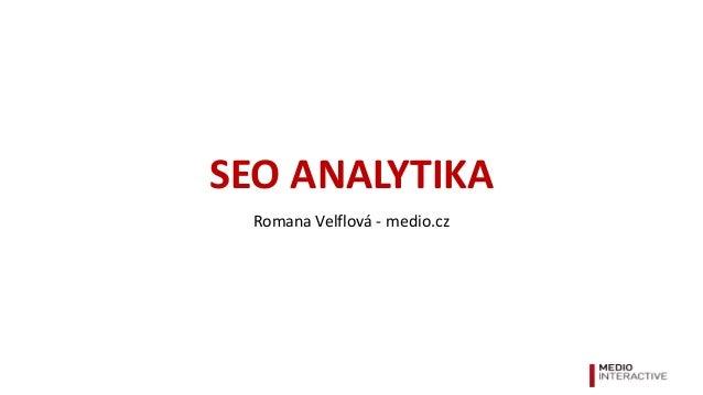 SEO analytika