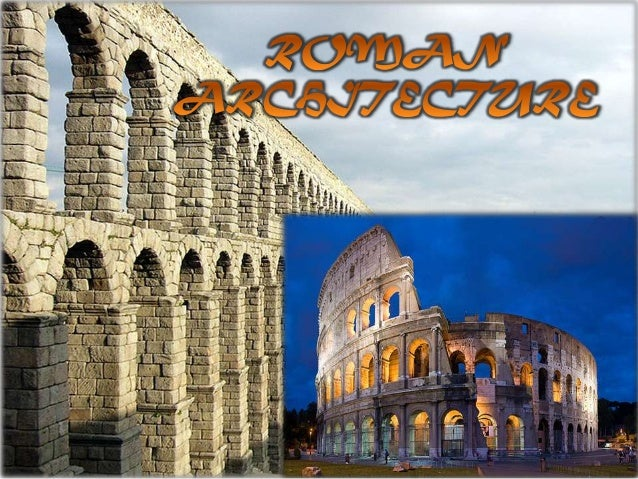Roman architecture : Elements and innovations.