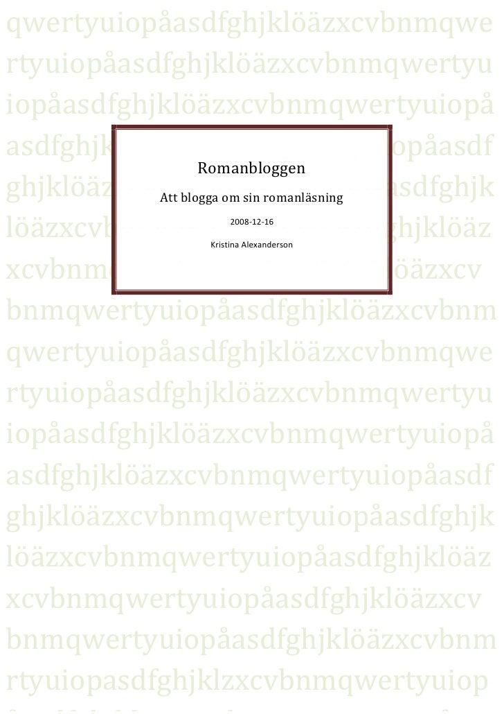 Romanblogg Instr