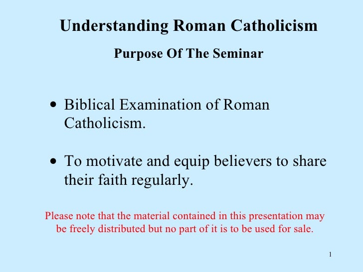 Roman catholic seminar
