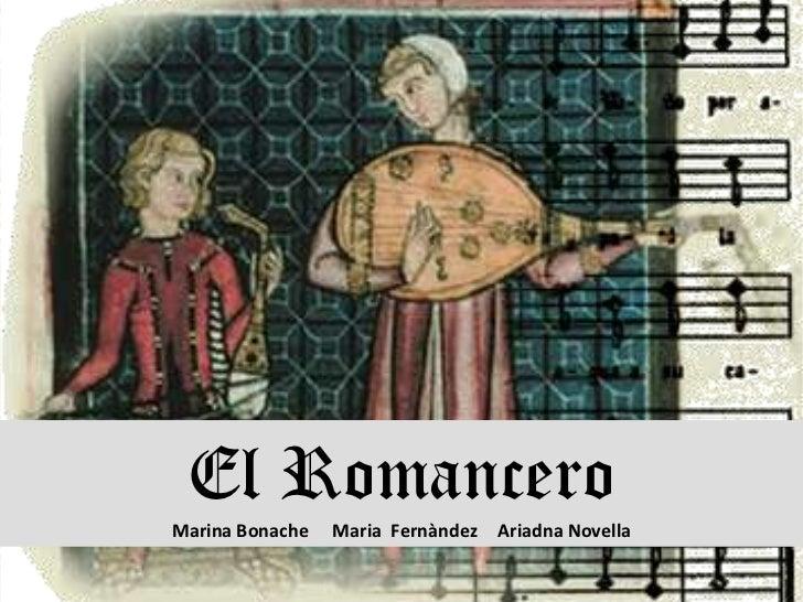 El RomanceroMarina Bonache   Maria Fernàndez   Ariadna Novella