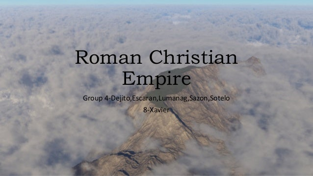 christian roman empire One of the great currents that transformed the late roman empire into early medieval europe was  one of the most famous early christian coins is this coin.
