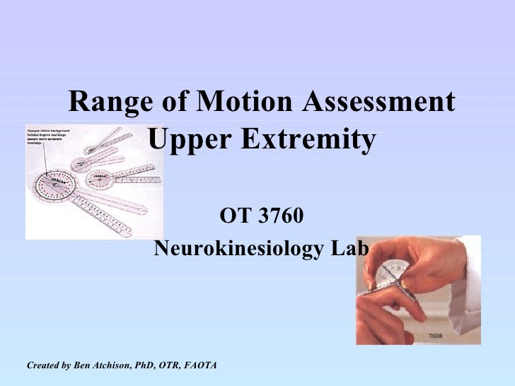 Goniometry and Manual Muscle Testing of the UE