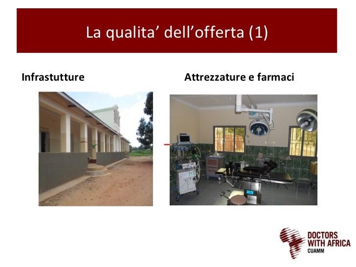 La qualita' dell'offerta (1)Infrastutture                  Attrezzature e farmaci