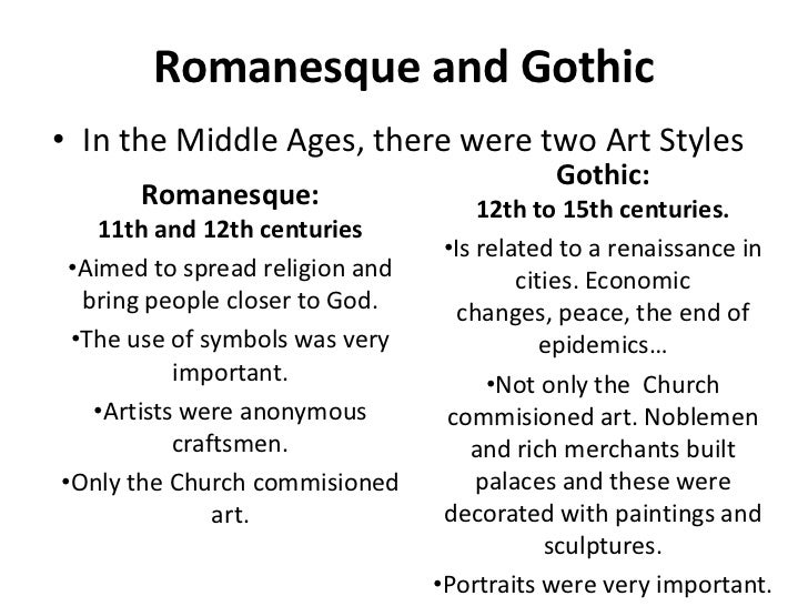 difference in gothic and romanesque architecture essay Gothic architecture and gothic architecture evolved from romanesque architecture we can find that, both the gothic and renaissance architecture.