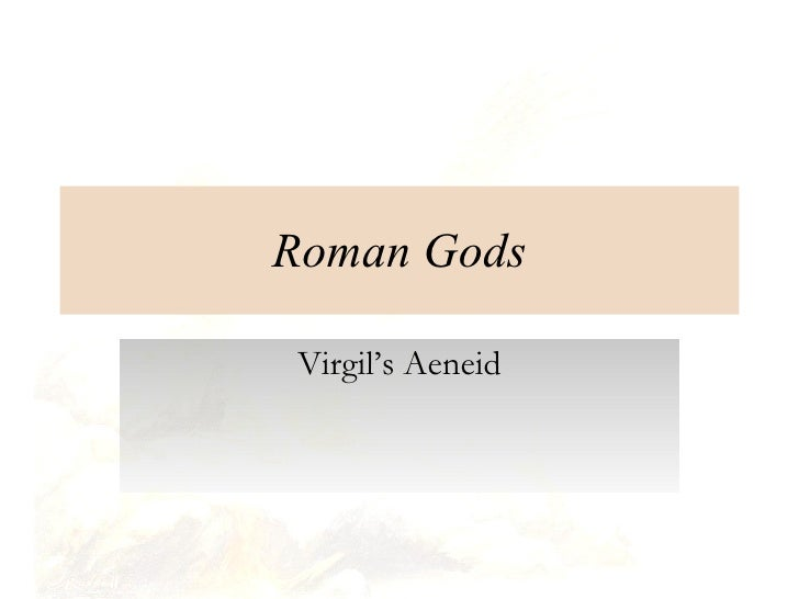 Roman Gods Virgil's Aeneid